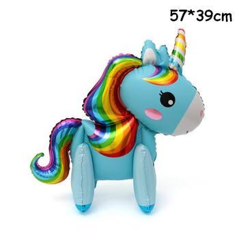 1PC 100*97CM Pink Horse Little Pony Unicorn Foil Balloons Helium Balloon Kids Toys Wedding Birthday Animal Party Decor Supplies 36