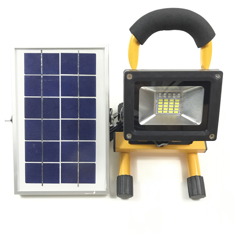Waterproof IP65 Solar LED Floodlights Portable Rechargeable Lanterns LED Work SOS Emergency light 4Modes Outdoor Camping Lights