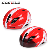 Costelo Bike Goggle Helmet Bicycle Helmet Carbon Cycle Helmet With Goggle Capacete Ciclismo Casco Bicicleta Free