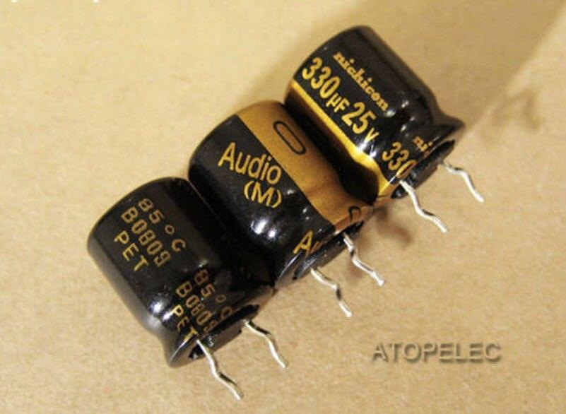 2//20pcs 220uf 25V KZ MUSE Nichicon Audio Electrolytic Capacitor