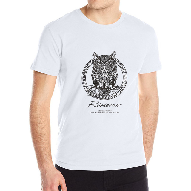 HOT SALE Night Owl Rivieras Cotton Short Sleeved T-Shirts
