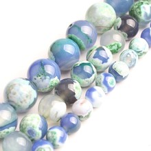 Natural Green Blue Fire Agate For Jewelry Making Necklace Round Loose Stone Beads Gemstone 6 8 10mm Diy Bracelet Necklace natural green blue fire agate for jewelry making necklace round loose stone beads gemstone 6 8 10mm diy bracelet necklace