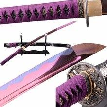 SHI JIAN Japanese Samurai Katana Sword Bo-hi Sharp 1095 Carbon Steel Blade Full Tang Tameshigiri Japanese Espadas Bushido Knife