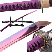 SHI JIAN Japanischen Samurai Katana Schwert Bo-hallo Sharp 1095 Carbon Stahl Klinge Full Tang Tameshigiri Japanischen Espadas Bushido messer