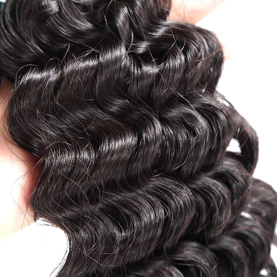 """Волосы Ilaria, норковые, бразильские, девственные, кудрявые, 2 пряди, класс 8А, глубокая волна 08 """"-36"""", 100% человеческие волосы для наращивания, волнистые, бесплатная доставка"""
