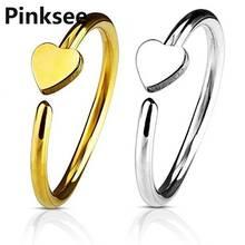 2Pcs Fashion Heart Fake Ear Tragus Labret Lip Septum Nose Clip
