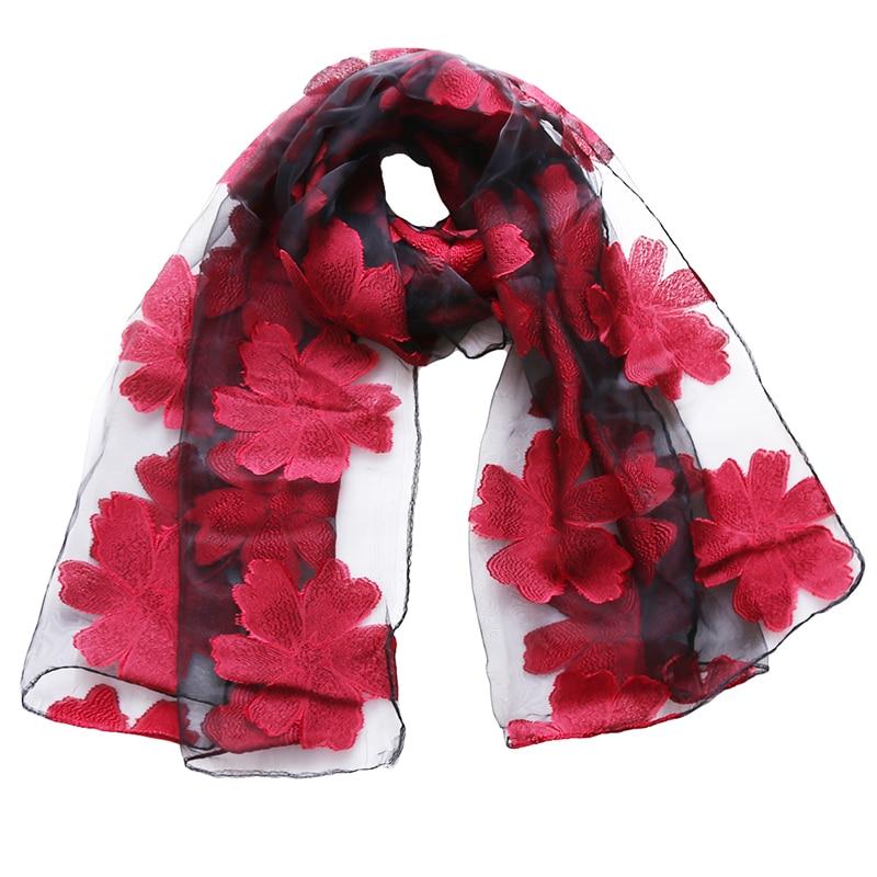 New 2018 brand scarf womens long shawl autumn and winter echarpe high-quality organza lady elegant hijab wraps