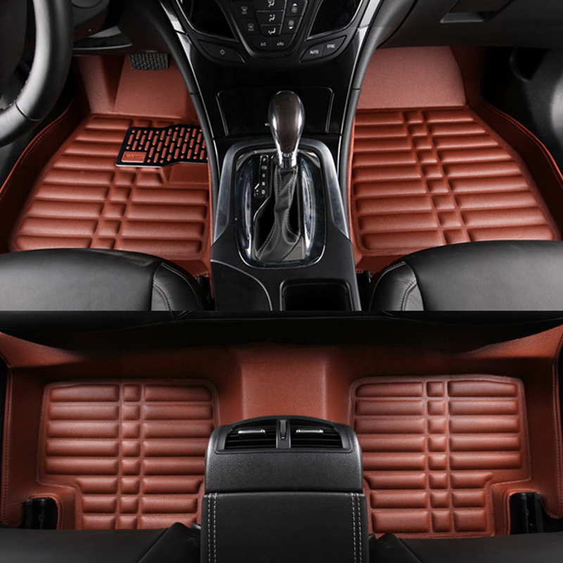 Car floor mats for volkswagen golf, car mat black beige  gray brown car rear trunk security shield cargo cover for volkswagen vw tiguan 2016 2017 2018 high qualit black beige auto accessories