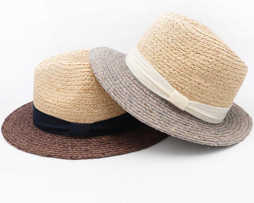 173da47f27ef4 10pcs Brand Men Raffia Straw Fedora Hats 61cm Large Size Panama Hat Summer  Beach Sun Cap