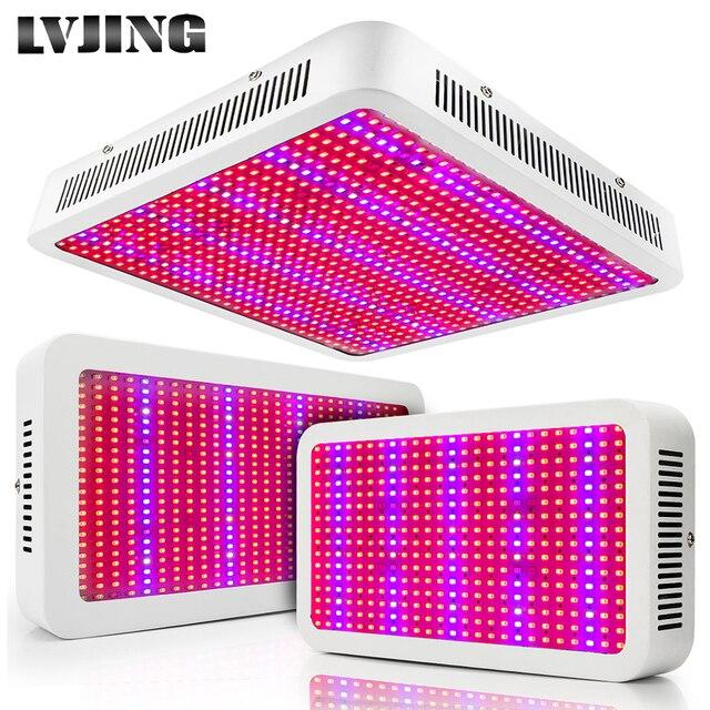 الطيف الكامل 300 واط 400 واط 600 واط 800 واط 1000 واط LED تنمو ضوء أحمر أزرق UV الأشعة تحت الحمراء Led النباتات مصباح ل زهرة النبات الزراعة المائية Growbox خيمة