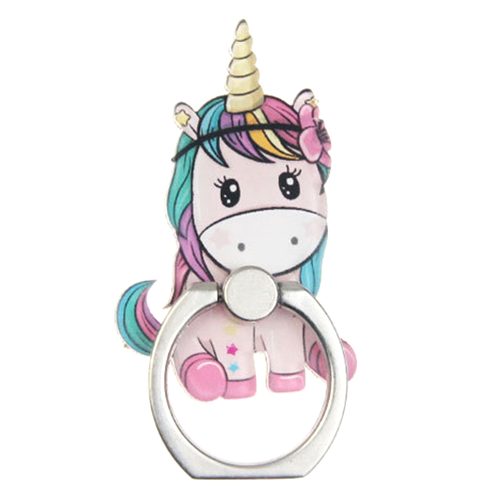 Rainbow Unicorn Mobile Phone Stand Holder Finger Ring Mobile Smartphone Holder Stand For IPhone Xiaomi Huawei All Phone