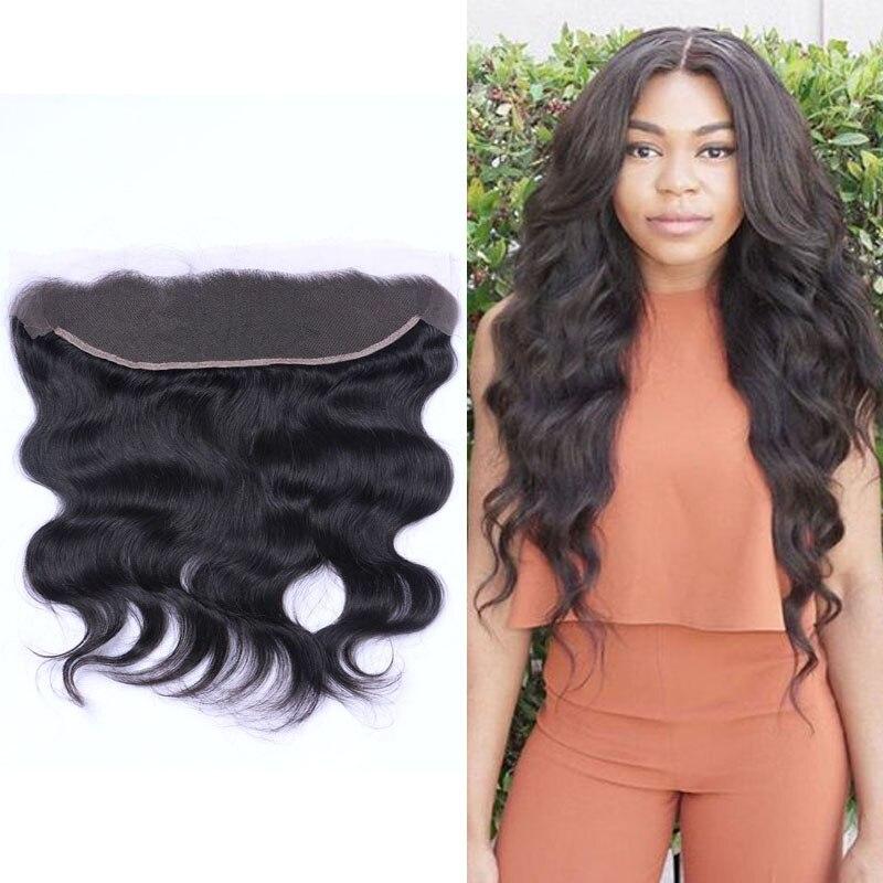 8A Virgin Brazilian Hair Lace Frontal Closure 13x4 Body Wave Human Hair Ear To Ear Lace Closure