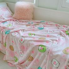 Candice guo! super cute plush toy sweet san-x Sumikko Gurashi corner biological warm blanket pillowcase birthday Christmas gift