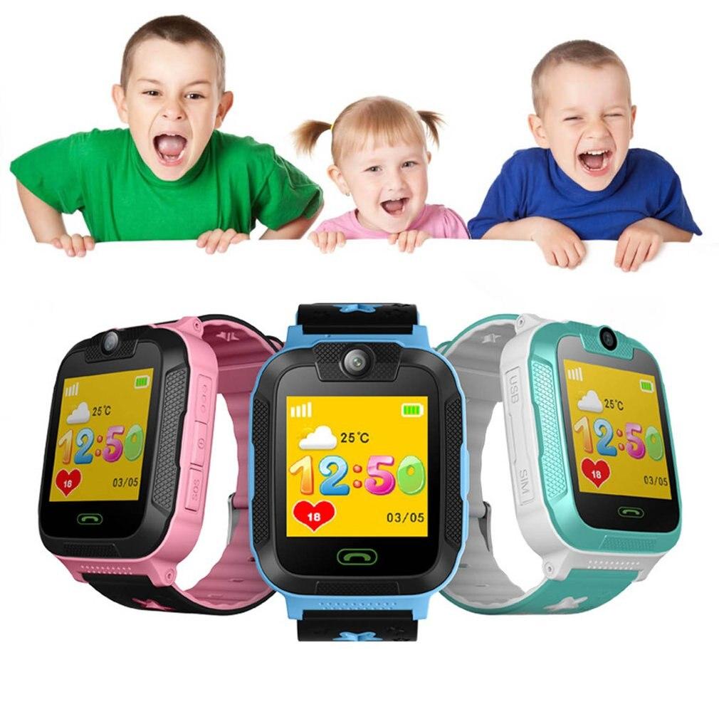 Enfants enfants jouet talkie-walkie montre intelligente 1.4 'écran tactile 3G podomètre SIM suivi en temps réel GPS poignet montre électronique Gf - 6