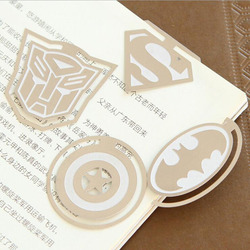 the Originality Of The Superhero League Bookmark Bookmark Exquisite Gift Office Supplies