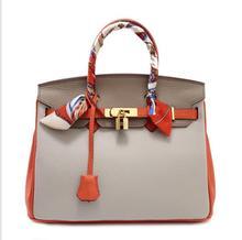2017 TOTE brand real cow leather handbags fashion  leather metal rings crossbody bag retro shoulder Messenger bag