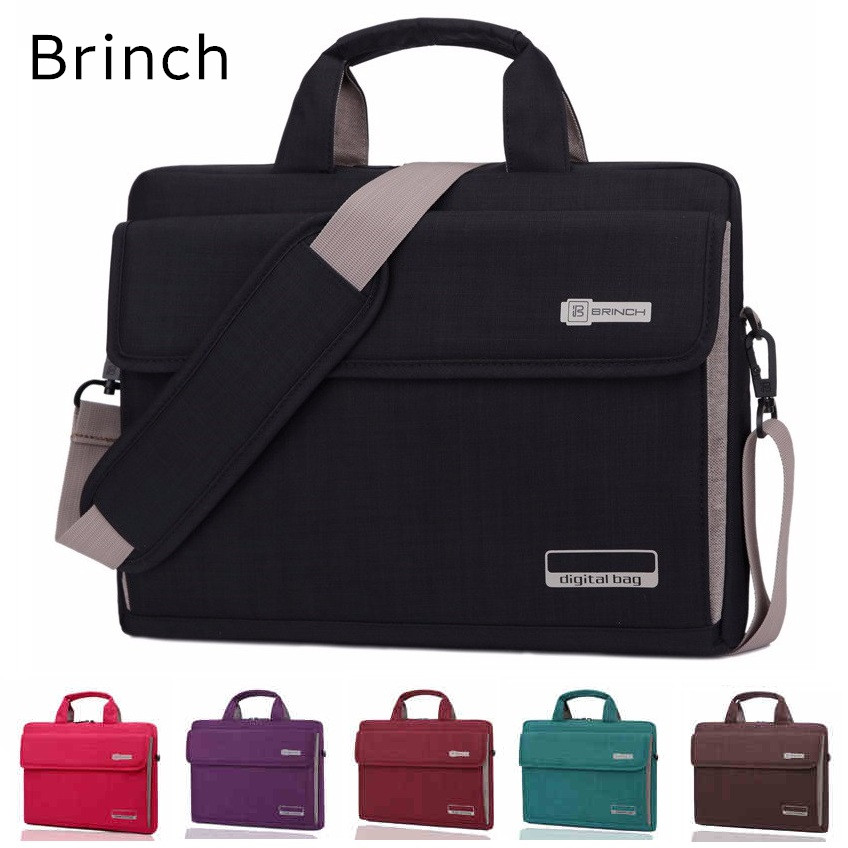2018 Newest Brand Brinch Messenger Bag For Laptop 13,14,15,15.6 inch, Case For Macbook Notebook 15.4 inch, Free Drop Shipping hot handbag for laptop 14 for macbook air pro 13 3 13 14 1 lady notebook bag women messenger purse free drop ship 0084s414