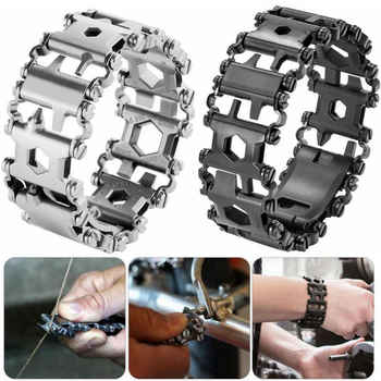 29 in 1 Multi Tool Bracelets Multifunction Repair Bracelet Stainless Steel Screwdriver Wrench Bicycle Camping Emergency Kit - DISCOUNT ITEM  43% OFF All Category