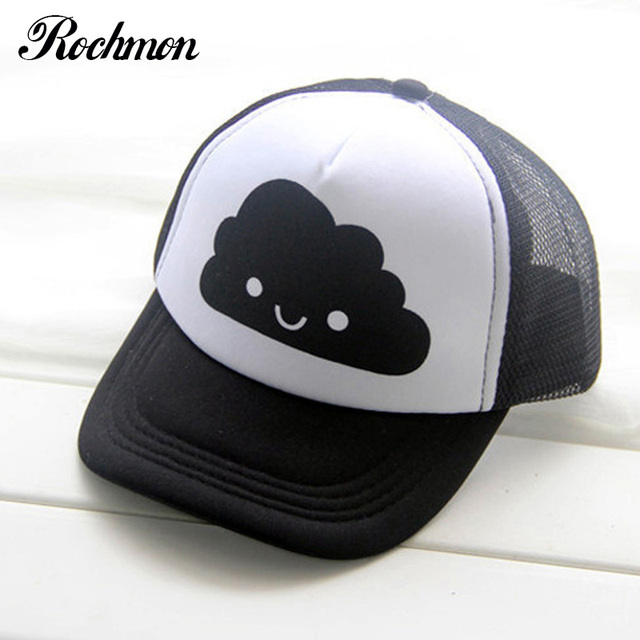 ROCHMON Maglia Estate Berretto Da Baseball Bambini Ragazzi Hip Hop Ragazza  Cappelli Dei Bambini del cappello 66f8c121dc51
