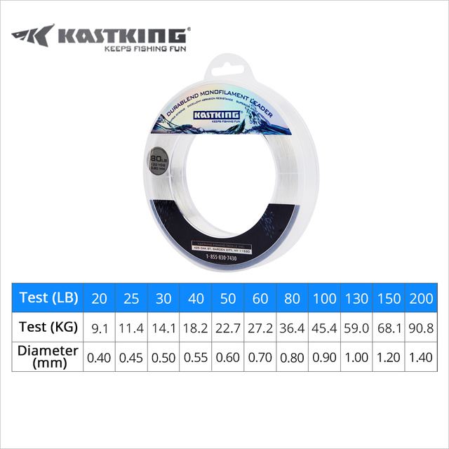 KastKing Durablend Monofilament Leader Line Nylon 110M