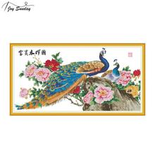 Joy Sunday Chinese Style Cross Stitch Fabric Aida Canvas for Embroidery Kit 11CT 14CT Needles DIY Crafts Needlework