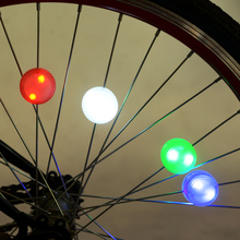 1pcs New Bicycle Cycling Hubs Light Bike Front/Tail Light Led Tyre Spoke Wheel Warning Light Waterproof Bike Accessories