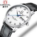 2018 neue Männer Business Automatische Mechanische Uhren Minimalistisches Design Schweiz Uhren Karneval Luxury Brand Leder Uhr|Mechanische Uhren|   -