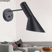 Vintage Iron American Wall Lamp Modern Black Wall night Lights Bedroom Hallway Sconce Retro Indoor Wall Lamp For Reading LEd