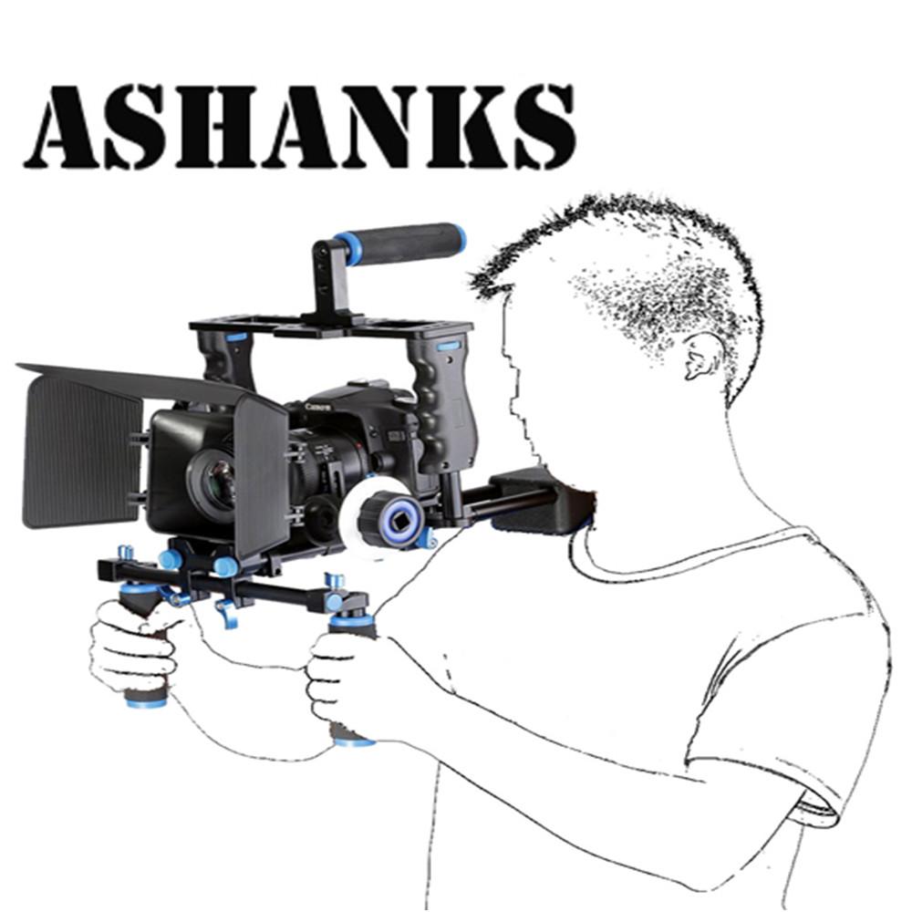 Prix pour Dslr rig kit vidéo soutien caméra cage/épaule mont/matte box/follow focus pour canon nikon sony caméscope appareil photo
