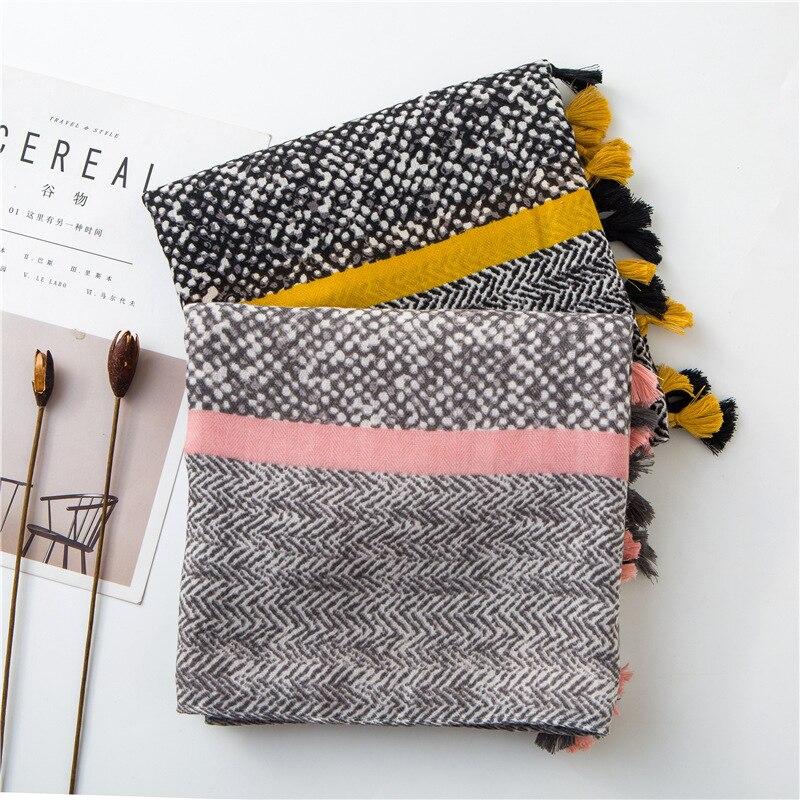 Fashion Leopard Zebra 2019 Cotton   Scarves   for Women Autumn Winter Warm   Scarves   Neck Head Shawls and   Wraps   Lady Pashmina Bandanas