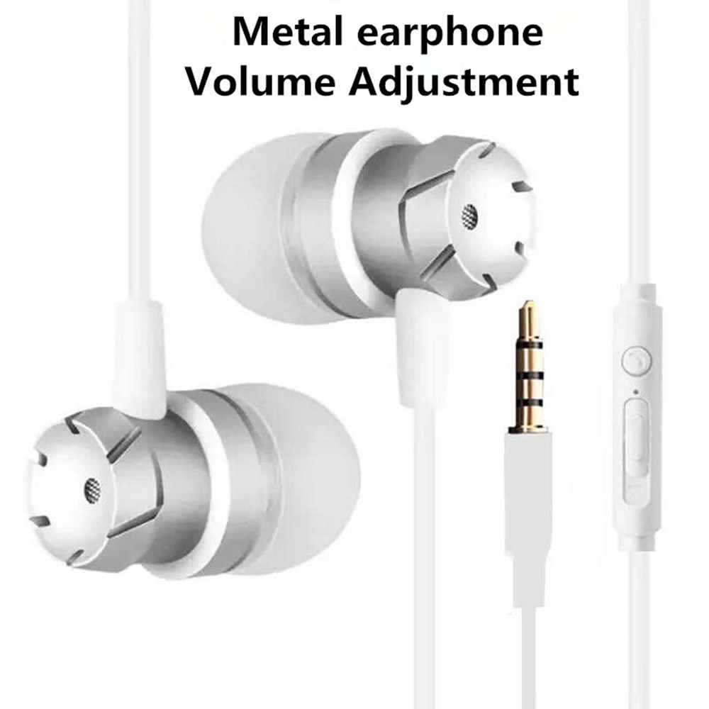 Sportowe zestawy słuchawkowe Bass przewodowe słuchawki douszne sterowania kluczem słuchawek słuchawek z mikrofonem słuchawki do muzyki dla telefonów komórkowych telefonu, komputera PC