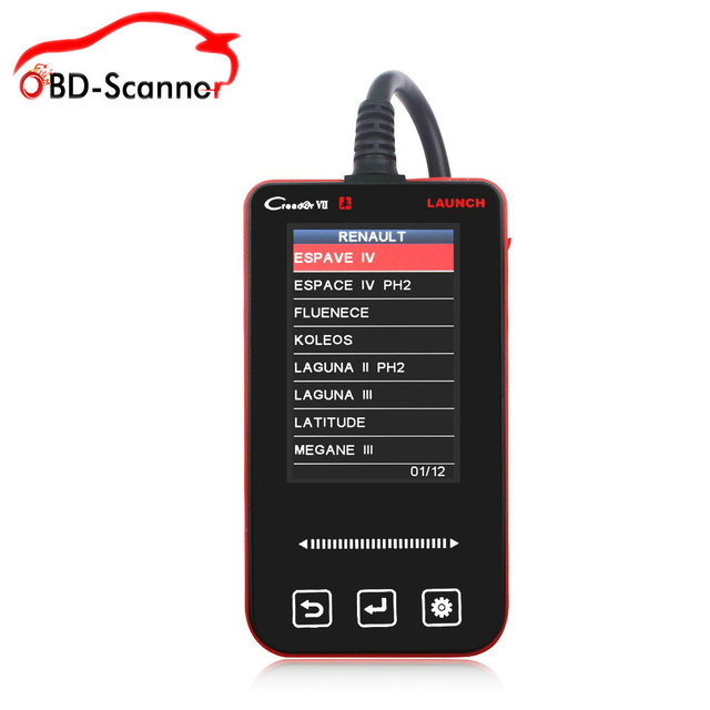 diagnostic-tool ABS ESP Airbag SRS Reset Got launch creader creader vii Creader 7 scanner launch Support 5 car  free from