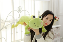 new cute soft lying frog toy plush green frog pillow doll about 60cm 2716