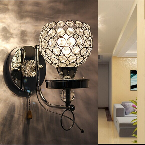 2015 Modern Popular Led Crystal Wall Lamp Luxury Led Lights For Home Decor Rustic Crystal Wall