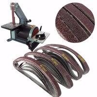 20pcs 13mm 457mm Sanding Belt 40 120Grit Sander Grinder Belt For Drill Grinding Polishing Power Tool