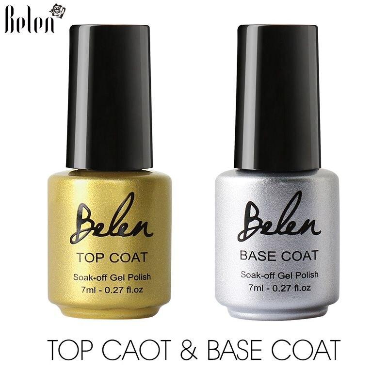 Belen UV LED Gel Nail Polish Top Coat Soak Off Base Coat