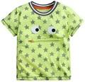 Crianças marca roupas de verão bebés meninos roupas de manga curta grama verde t camisas de algodão estrela impressão tee tops