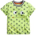 Los niños ropa de marca verano de los bebés arropa manga corta hierba verde camisetas del algodón estrellas impresión tee tops
