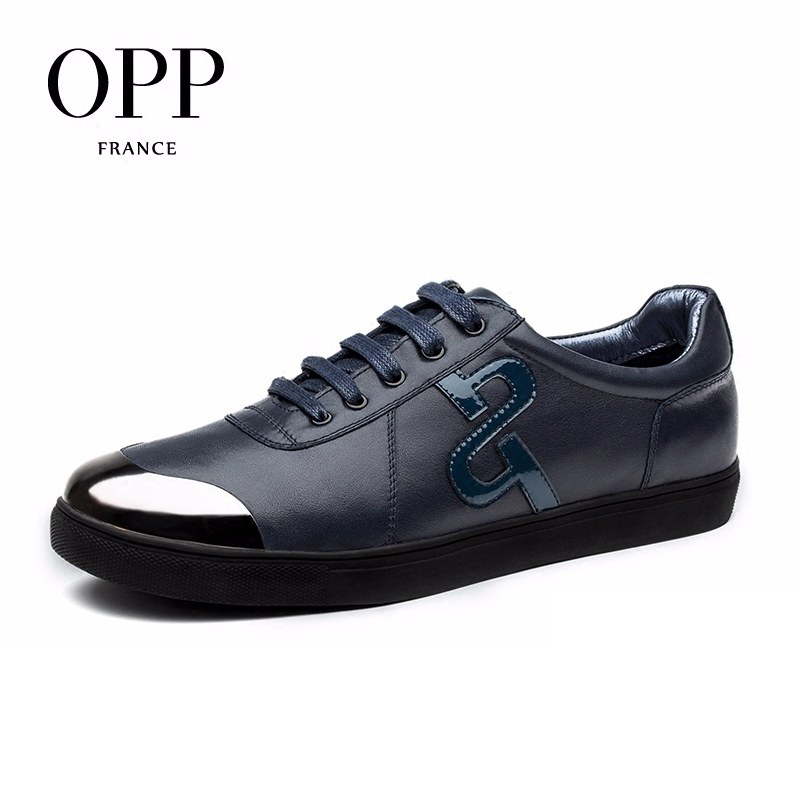 OPP Genuine Leather Men Shoes Mens moccasins Cow Leather Loafers Lace-up Casual Shoes Metal Sequin Toe Solid Leather Flats Shoes pl us size 38 47 handmade genuine leather mens shoes casual men loafers fashion breathable driving shoes slip on moccasins
