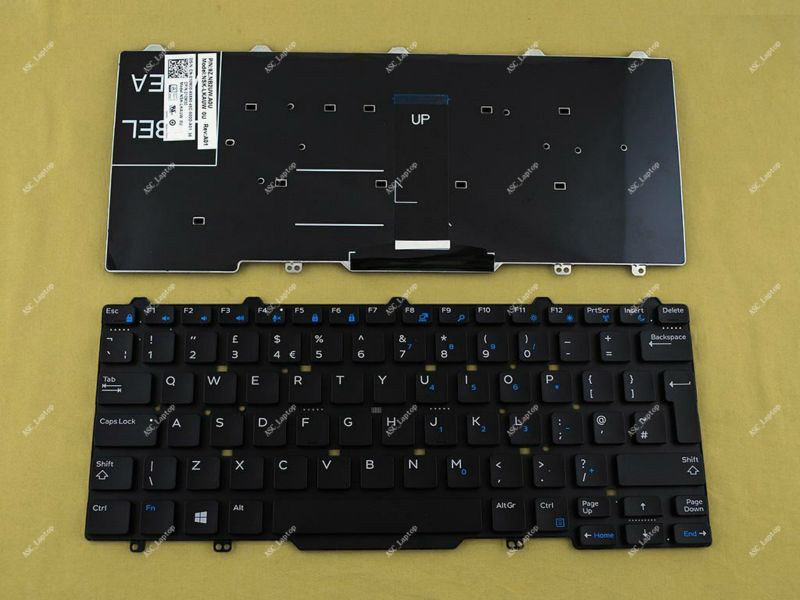 Without Frame New Laptop Keyboard Replacement for Dell Latitude 3340 3350 US Layout Black Color