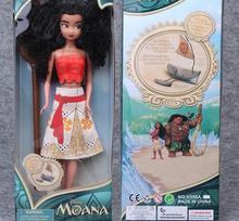 30cm Moana Princess Moana Maui Waialik Heihei Moana Adventure Pack Action Figure Toys For Christmas Birthday Girl Gift