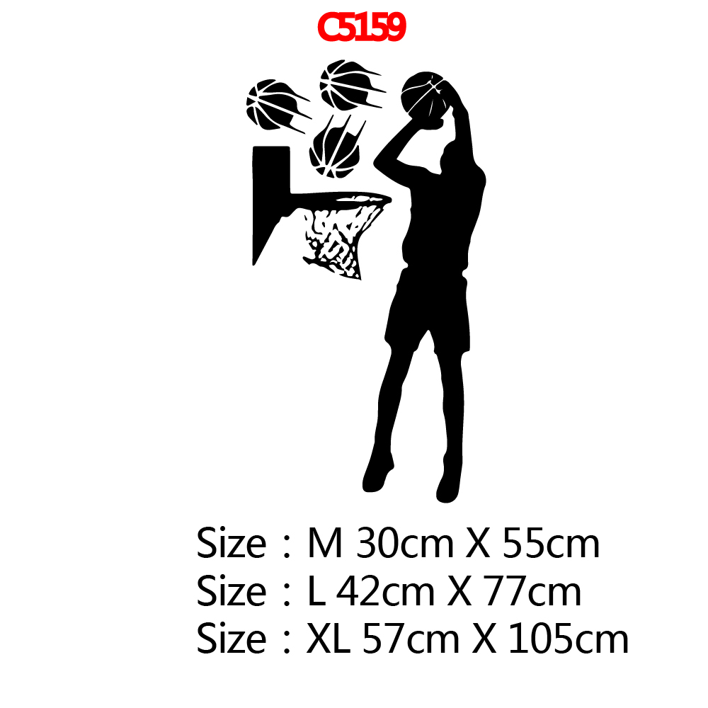 XL play basketball Home Decor Vinyl Wall Stickers Bedroom Wall Stickers Art Decals Living Room Decor stickers muraux in Wall Stickers from Home Garden