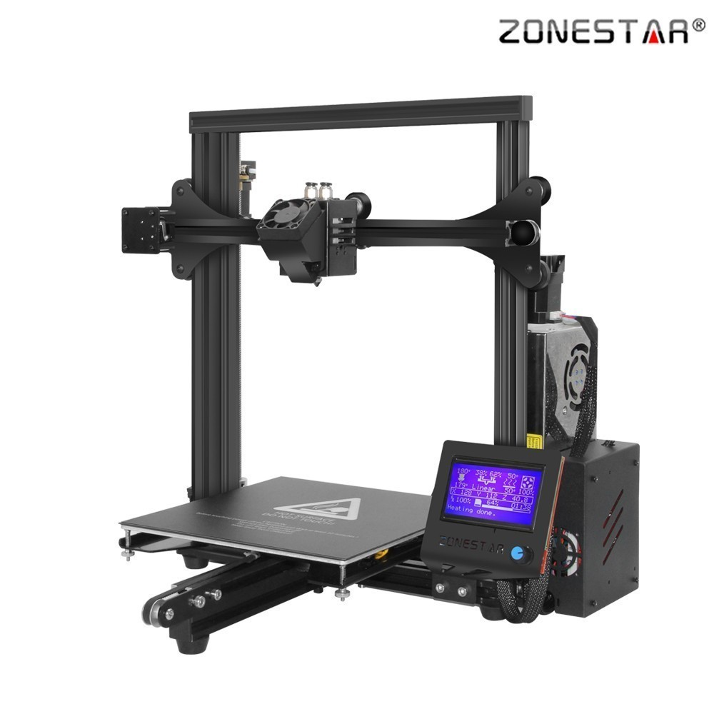 ZONESTAR 2018 New Classic Full Metal Aluminum Fast Assembly Super Base Dual Extruder Auto Mix Color 3D Printer DIY KIT Ender 3 zonestar newest full metal aluminum frame big size 300mm x 300mm auto level laser engraving run out decect 3d printer diy kit
