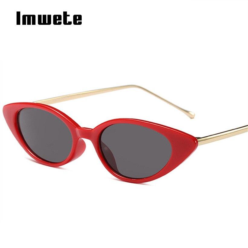 Imwete Oval gafas de sol pequeño tamaño del estilo Retro marca diseñador mujeres Metal marco gafas de sol hombre gafas