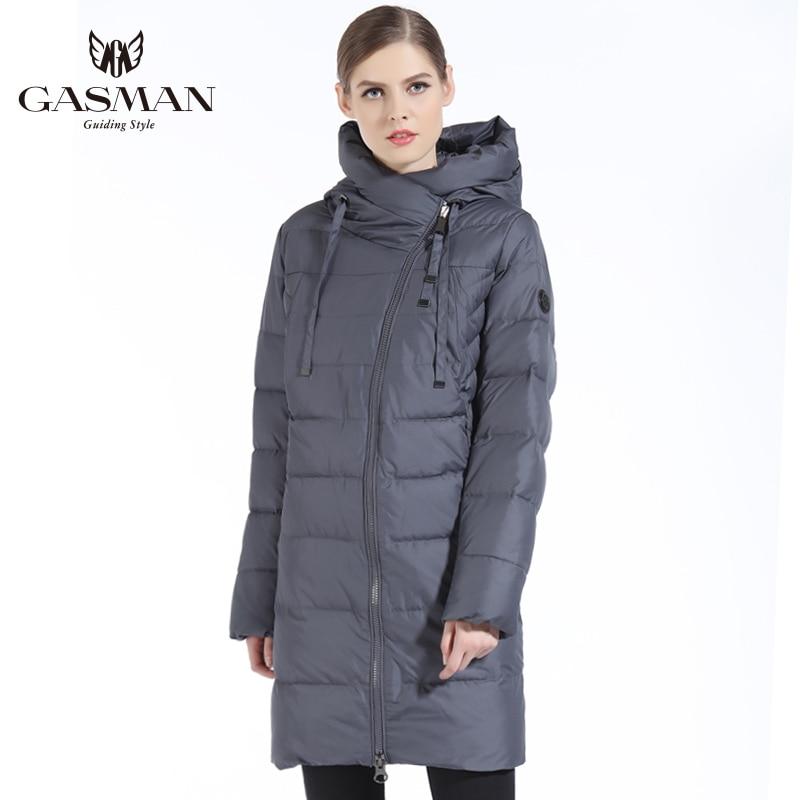 GASMAN 2019 Neue Frauen Winter Jacke Mantel Casual Winter Stepp Mantel Lange Stil Kapuze Schlank Parkas Verdicken Oberbekleidung Mantel Plus größe - 2