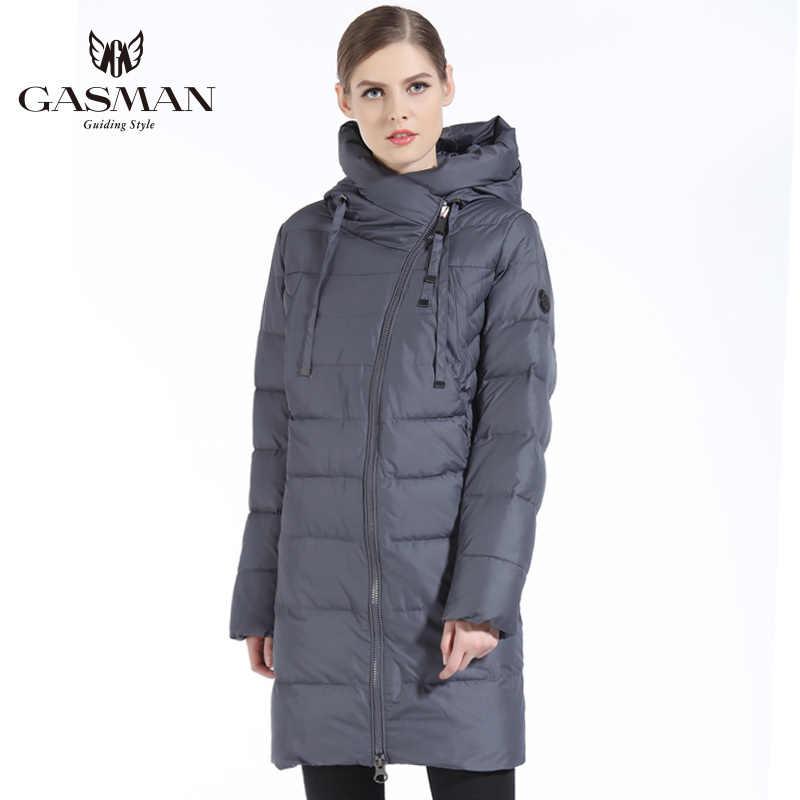 GASMAN 2019 Neue Frauen Winter Jacke Mantel Casual Winter Stepp Mantel Lange Stil Kapuze Schlank Parkas Verdicken Oberbekleidung Mantel Plus größe