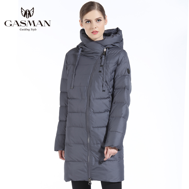 Gasman 2019 Nieuwe Vrouwen Winterjas Jas Ongedwongen Winter Gewatteerde Jas Lange Stijl Kap Slanke Parka Dikker Bovenkleding Jas Plus size - 2
