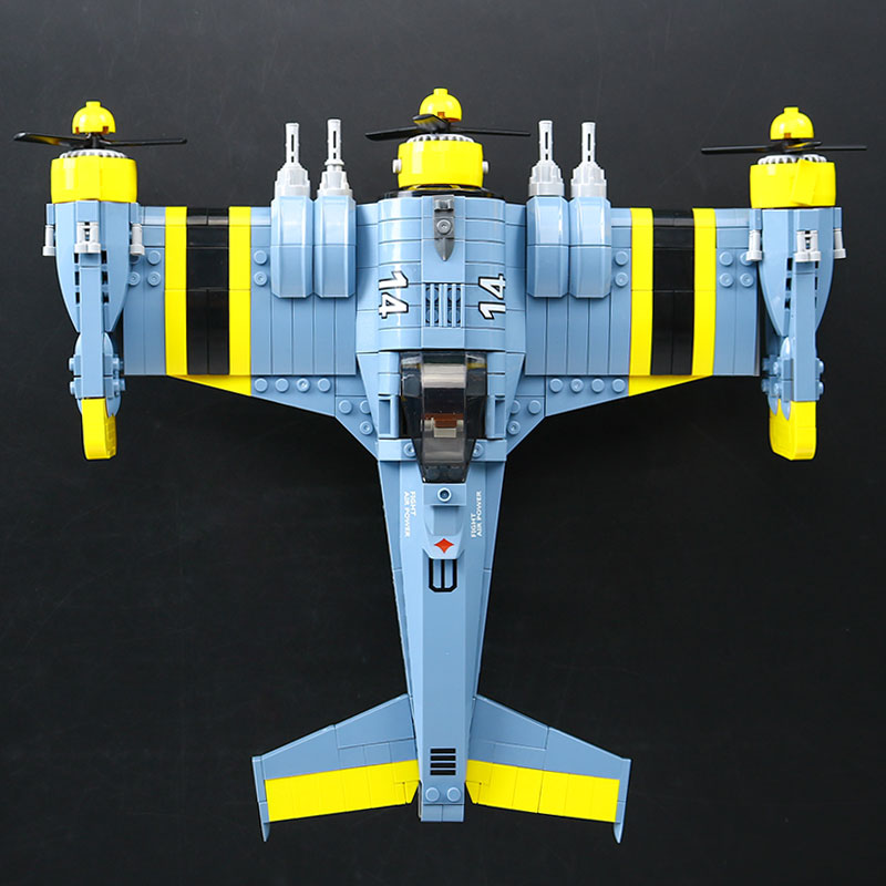 Lepin 22021 Technical Series The Beautiful Science Fiction Fighting Aircraft Set Building Blocks Bricks Educational Toys Gifts the great science fiction