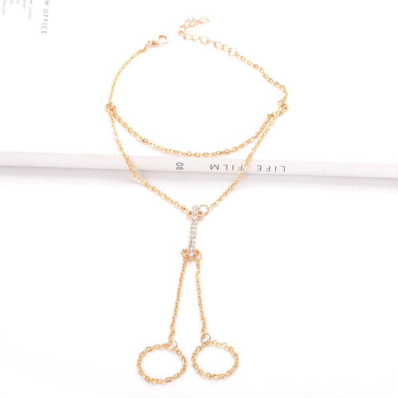 Crystal Shining Barefoot Sandals Anklet Bracelet for Women Rhinestone Bridal Toe Ankle Foot Chain Jewelry Beach Wedding A5 2