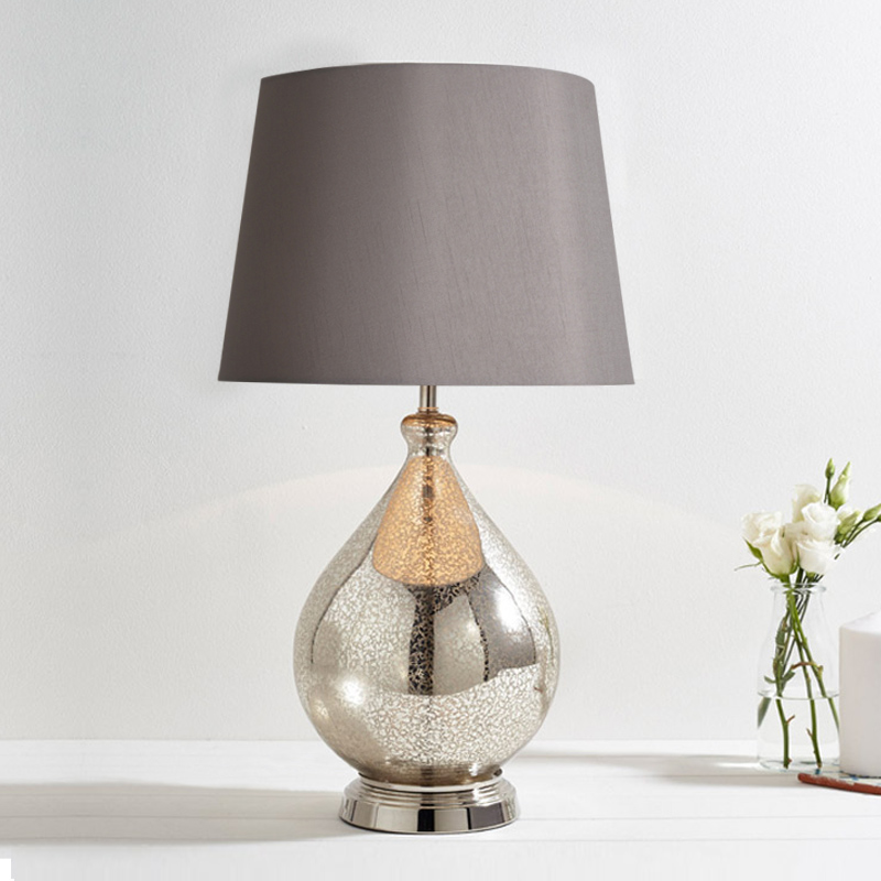 Nordic table lamp grey personality desk lamp minimalist hotel model luxury living bedroom lamp ball glass black white za419607
